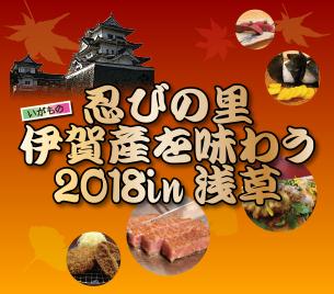 忍びの里伊賀産を味わう2018in浅草